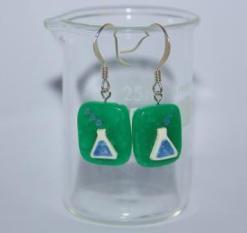 Science earrings - Rebecca Nesbit